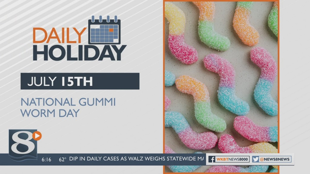 Daily Holiday National Gummi Worm Day