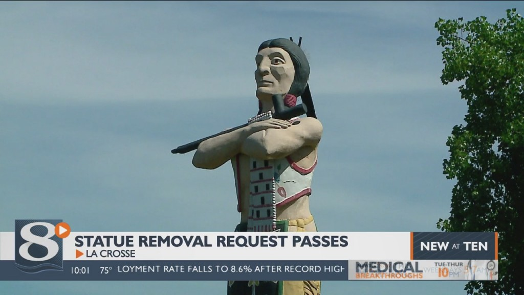 La Crosse Parks Board Votes To Remove Hiawatha Statue From Riverside Park