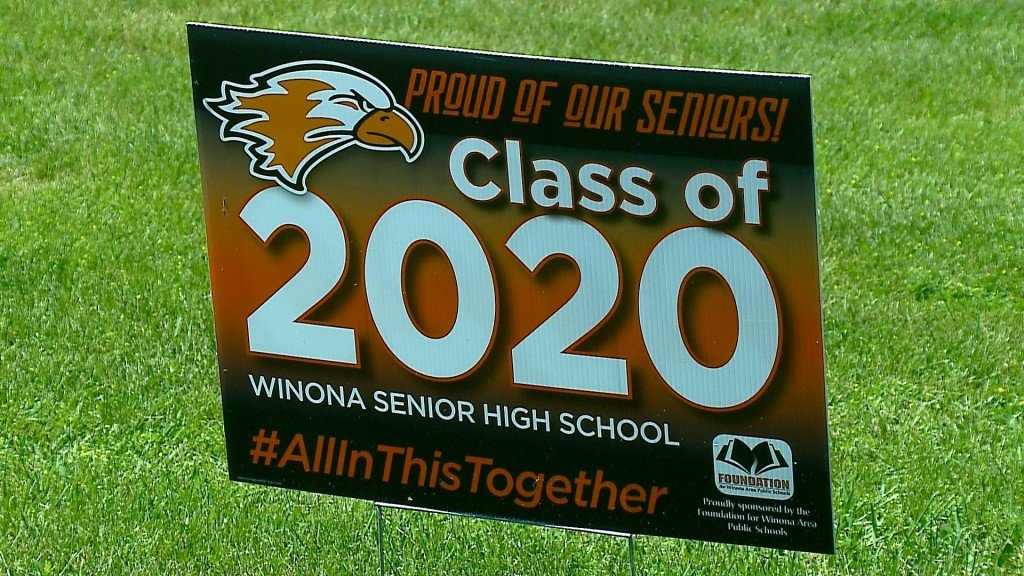 Winona school Sign