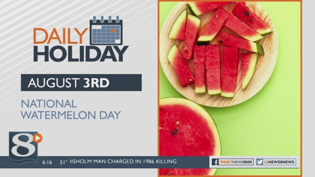 Daily Holiday National Watermelon Day