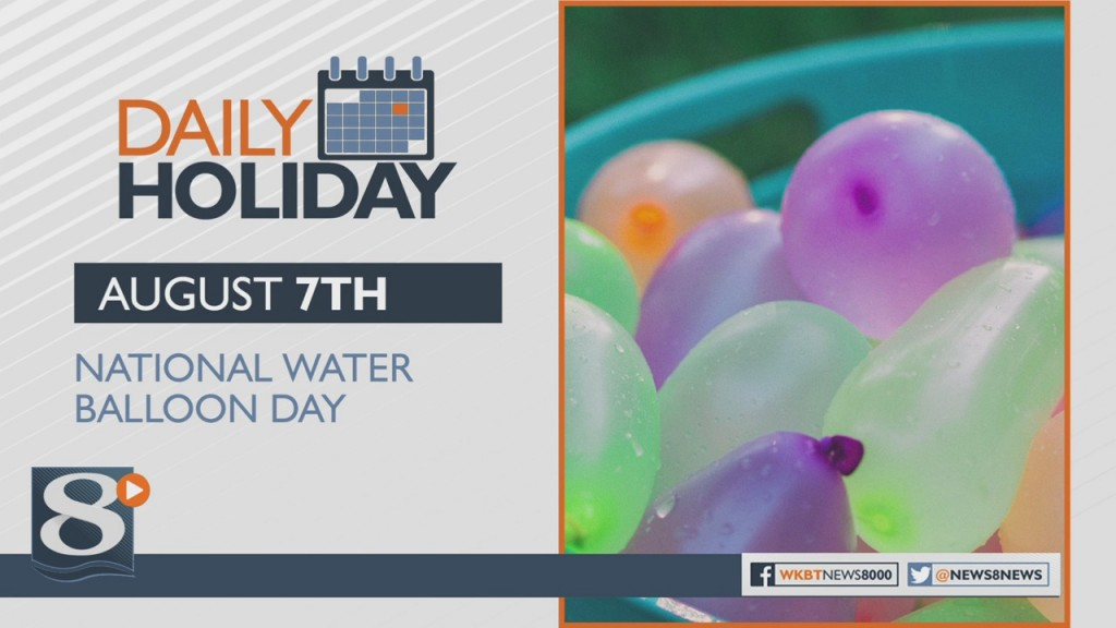 Daily Holiday National Water Balloon Day
