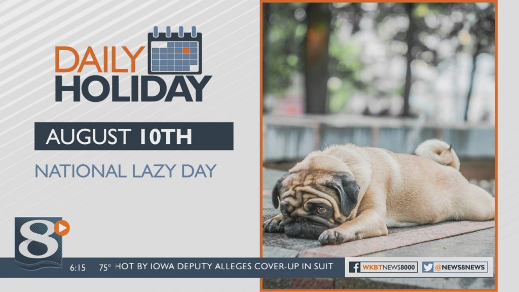 Daily Holiday National Lazy Day
