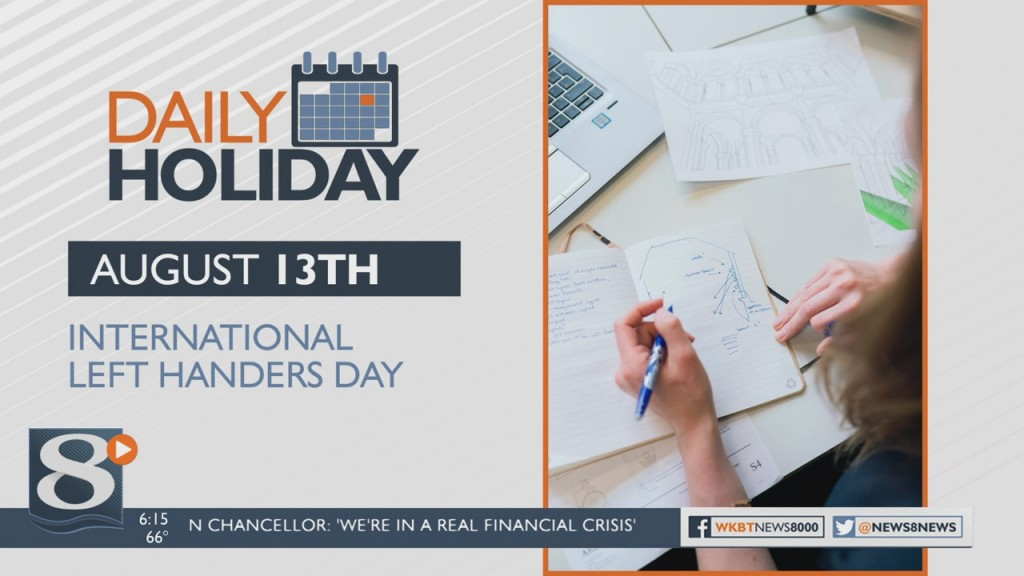 Daily Holiday International Left Handers Day