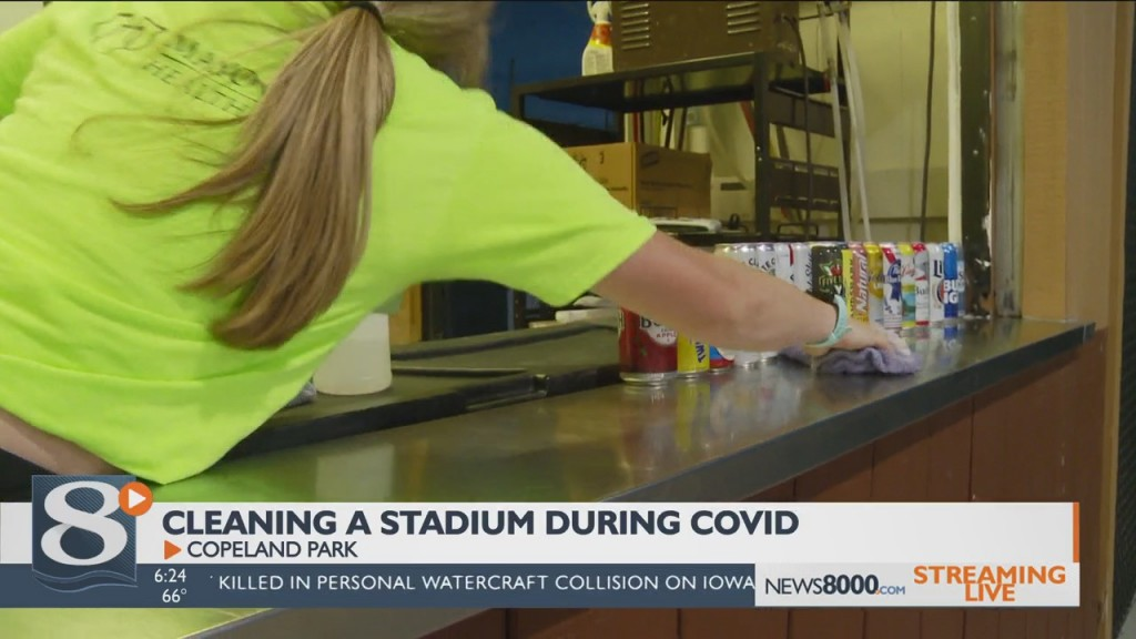 Cleaning A Stadium During Covid