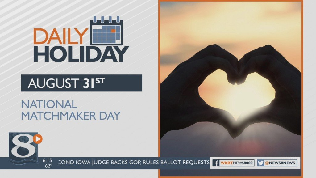 Daily Holiday 8/31/2020 – National Matchmaker Day