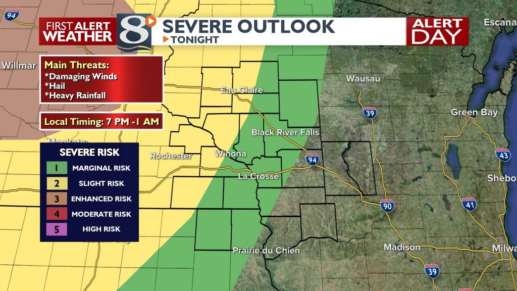 Tonight's Severe Risk