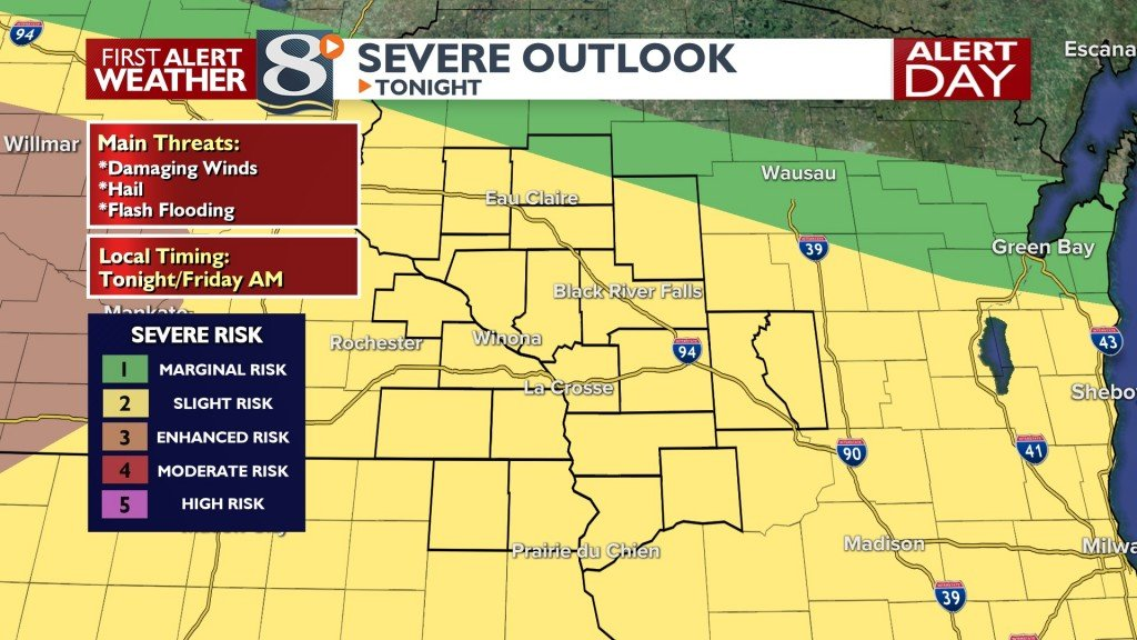 Tonight's Severe Weather Risk