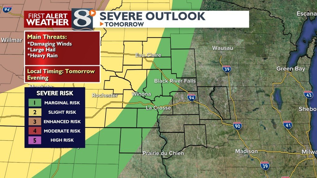 Tomorrow's Severe Threat