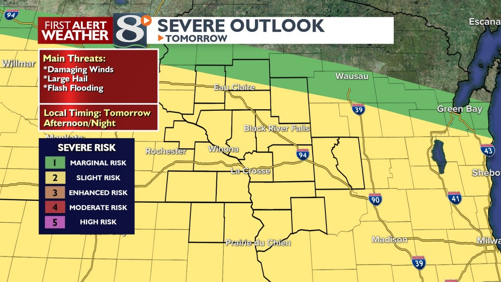 Tomorrow's Severe Risk