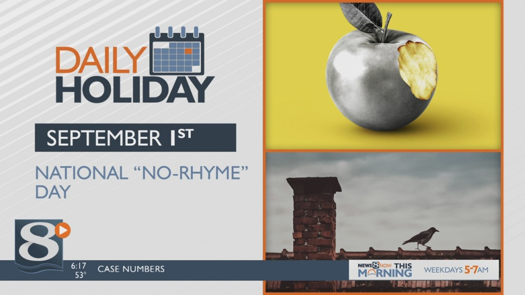 "Daily Holiday 9/1/2020 – National ""no Rhyme"" Day"