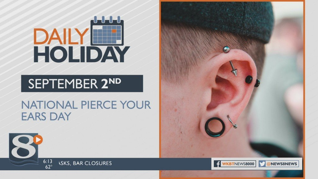 Daily Holiday 9/2/2020 – National Pierce Your Ears Day