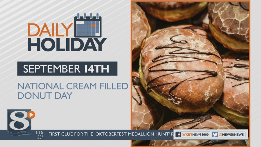Daily Holiday National Cream Filled Donut Day
