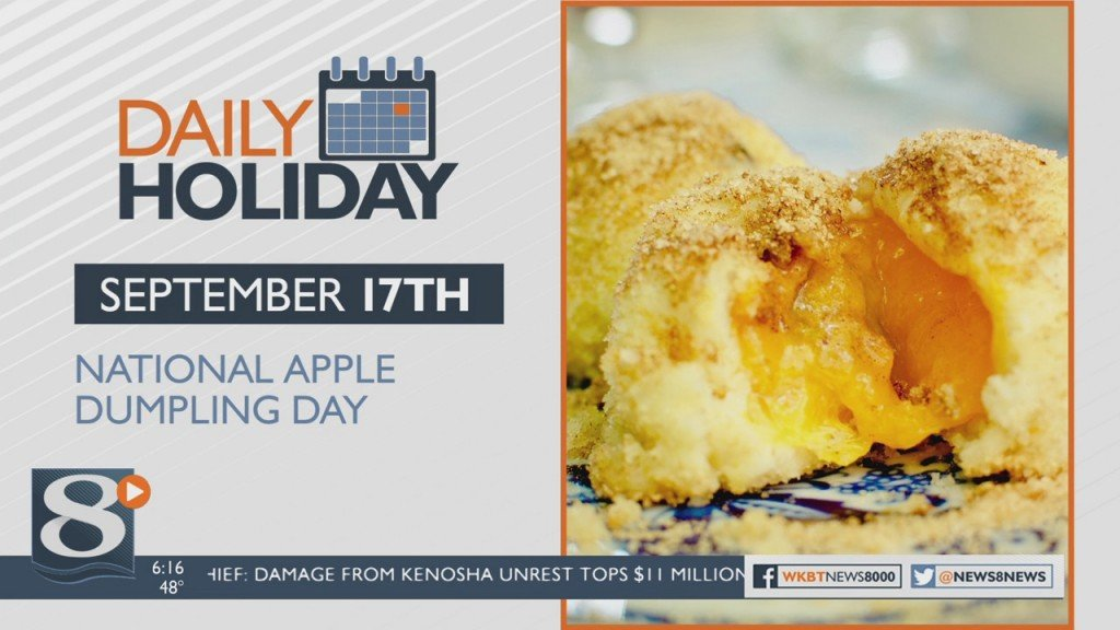 Daily Holiday National Apple Dumpling Day