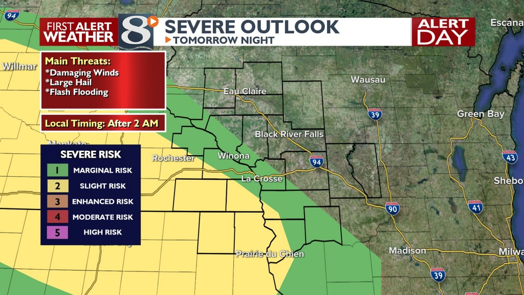 Tomorrow Night's Severe Outlook