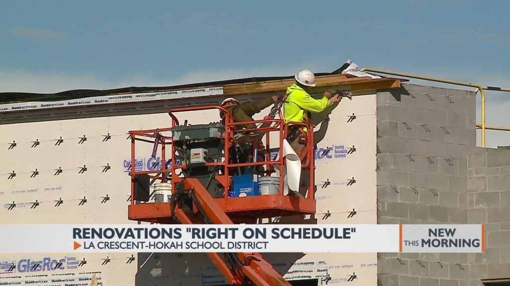 Renovations On Schedule For The La Crescent Hokah School District