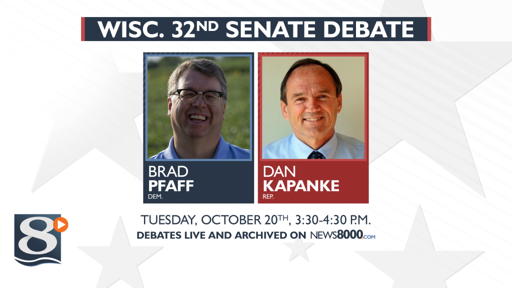 Watch Live: Brad Pfaff And Dan Kapanke Debate Ahead Of 32nd Senate District Election