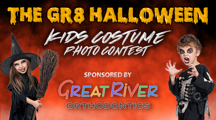 Gr8 Halloween Photo Contest Great River Orthodontics Graphic
