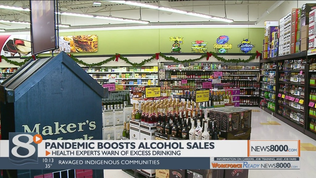 Pandemic Boosts Alcohol Sales