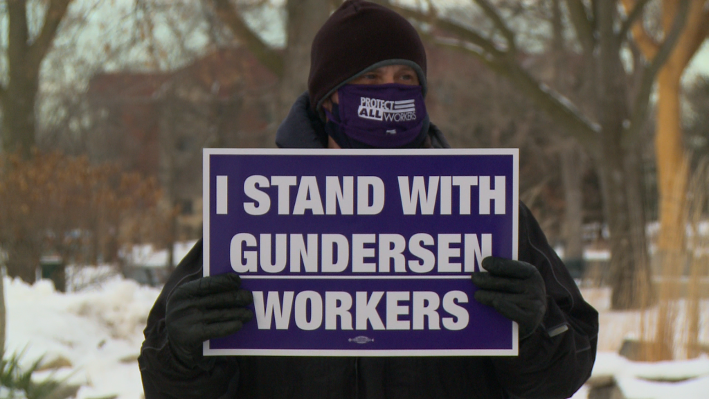 Gundersen Workers Call For High Wages