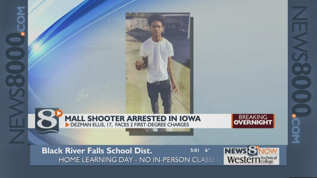 Mall Shooter Arrested In Iowa