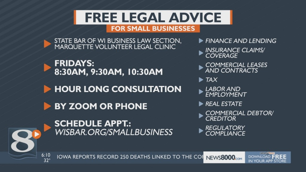 Wisconsin Lawyer Groups Offer Free Legal Advice For Small Businesses
