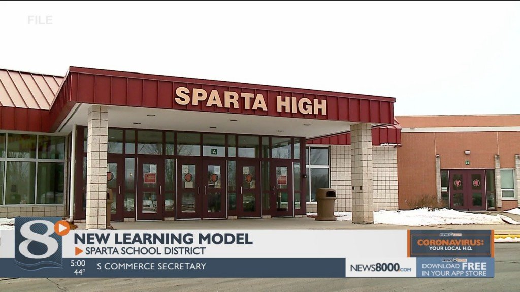 The Sparta School District Is Transitioning Into A New Instruction Model That Allows In Person Learning For More 7 Th Through 12 Th Grade Students