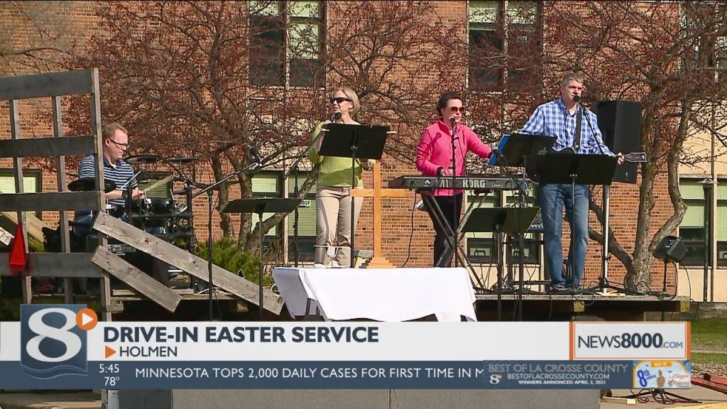 Drive In Easter Service Brings People Together In Holmen