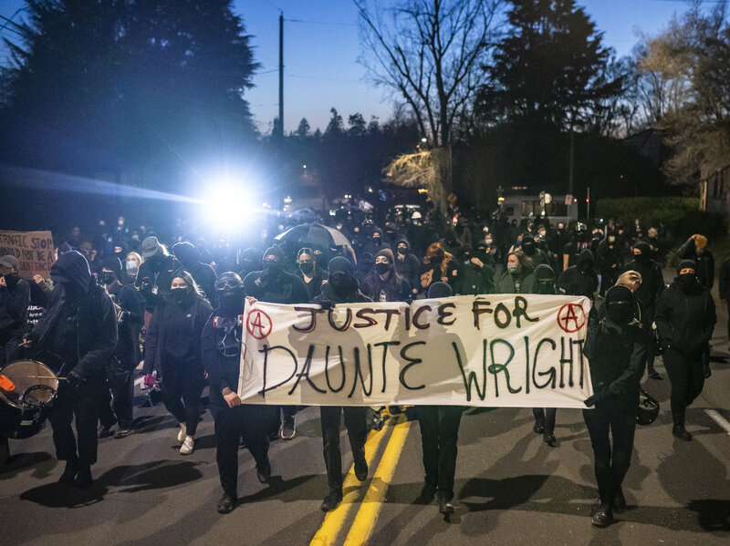 Protests Break Out Across U.s. After Police Shooting Death Of Daunte Wright