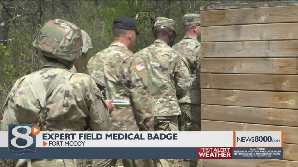 Army Reserve Soldiers From Around The Country At Ft. Mccoy To Earn Medical Badges