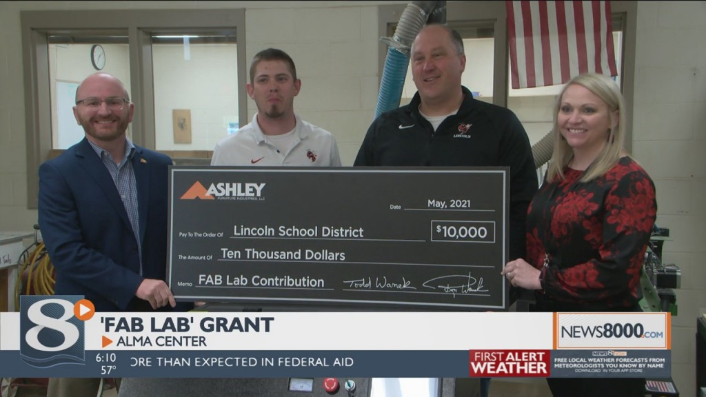 "Wedc Grant Funds Alma Center ""fab Lab"""