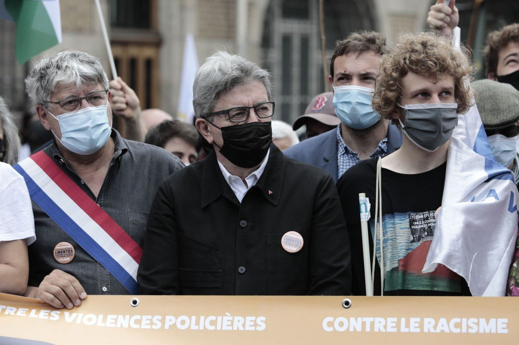 French Far Left Chief Floured In March Against Far Right