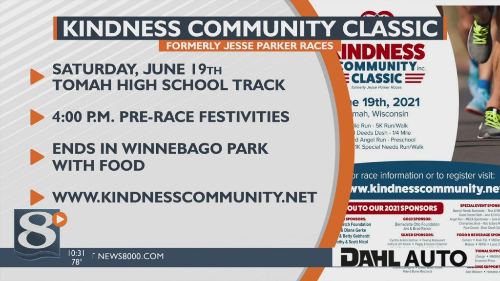 Kindness Community Classic Run/walk Event Coming To Tomah
