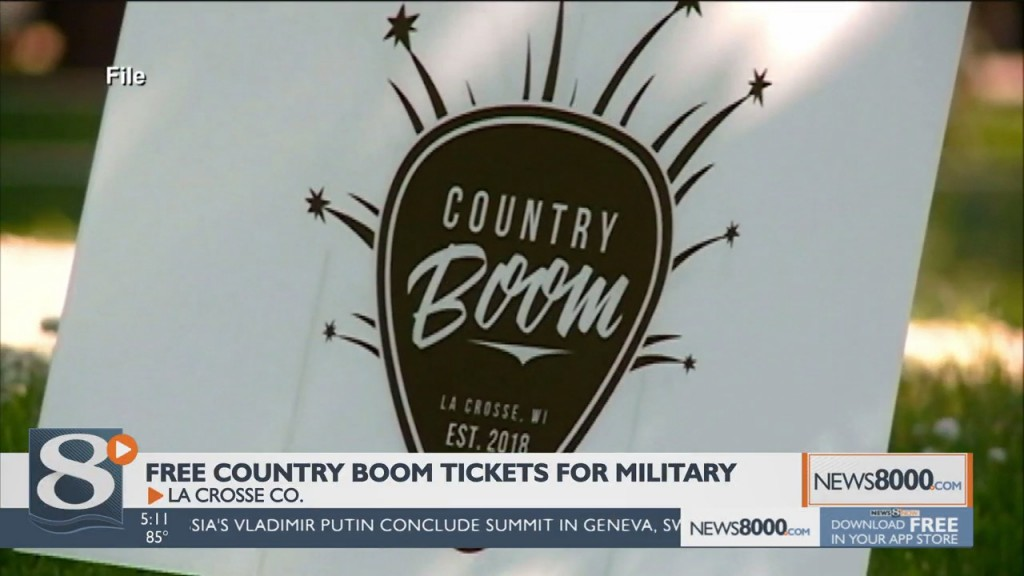 Military Members, Veterans Can Enjoy Country Boom For Free