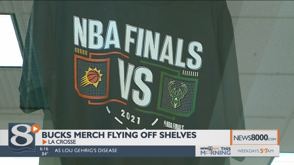 Wisconsin Sports Merchandise A Hot Item As Bucks Go For The Championship