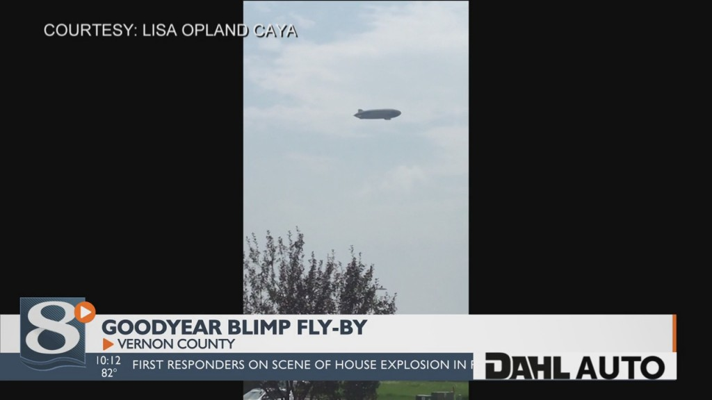 Goodyear Blimp Flies Over The 7 Rivers Region