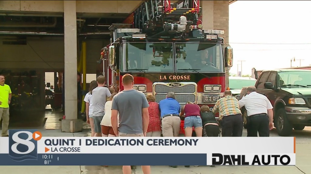 La Crosse Fire Department Holds Dedication Ceremony For New Rig