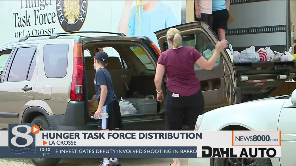 Hunger Task Force Distributes Food Boxes To Those In Need