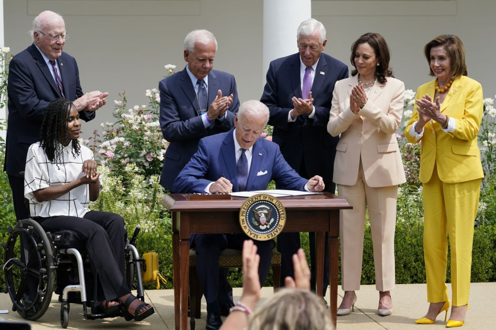 Biden Lauds Americans With Disabilities Act, Vows 'long Covid' Help