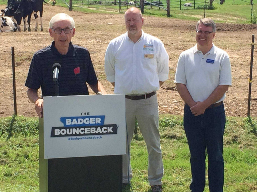 Gov. Tony Evers in Coon Valley
