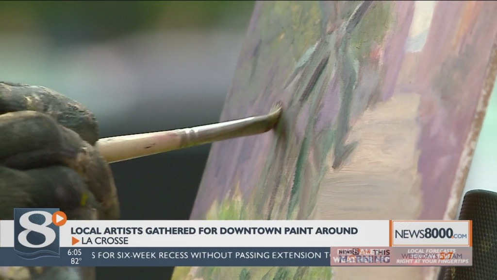 Artists Gather Downtown For Special Art Event