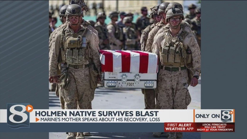 Holmen Native Survives Blast, Marine's Mother Speaks About His Recovery
