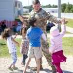 Task Force Mccoy Soldier Spends Time With Evacuees