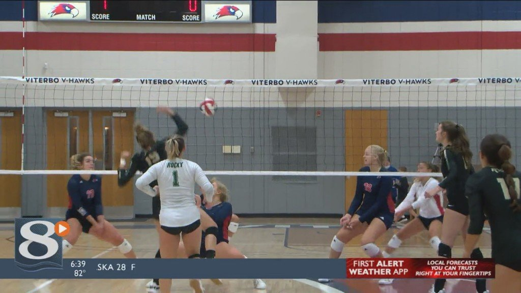 Viterbo Volleyball Keeps Rocking, Rolls Over Rocky Mountain College