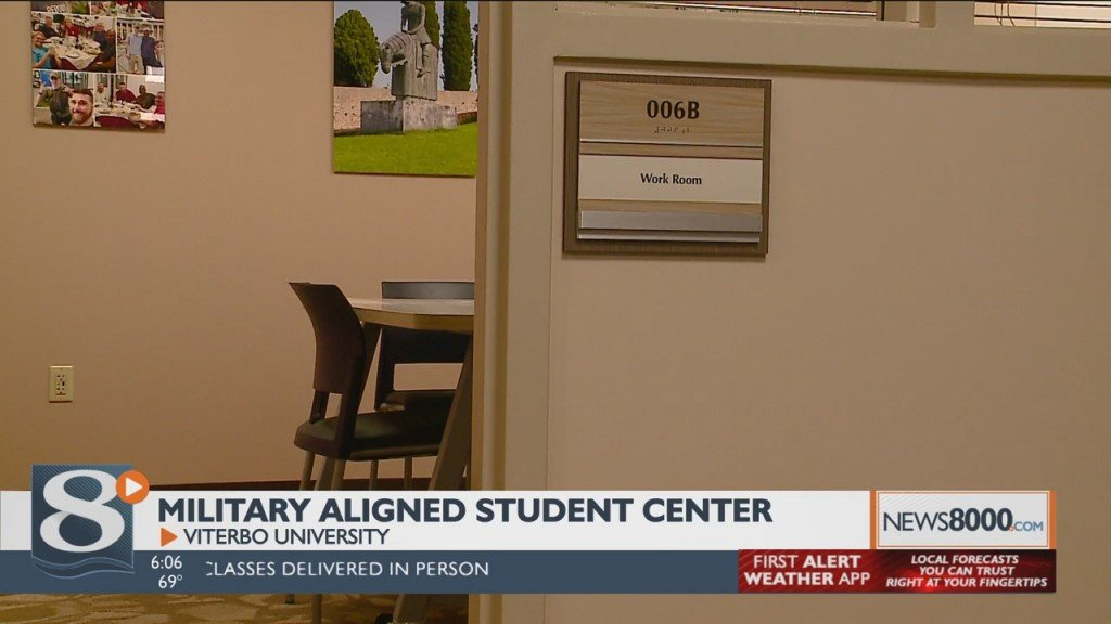 Military Aligned Student Center Opens At Viterbo