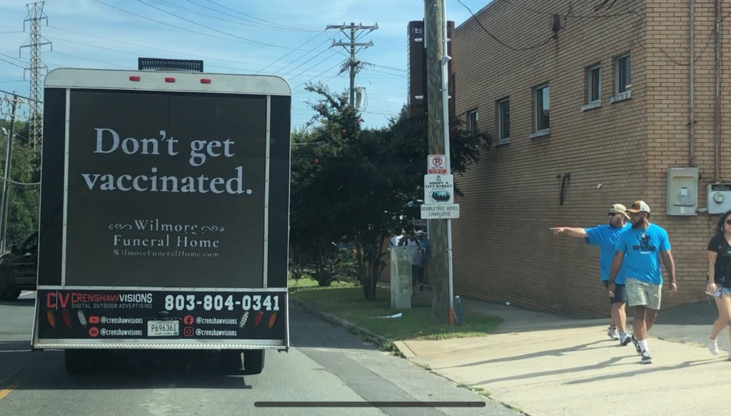 'funeral Home' Ad Spreads Message For The Unvaccinated