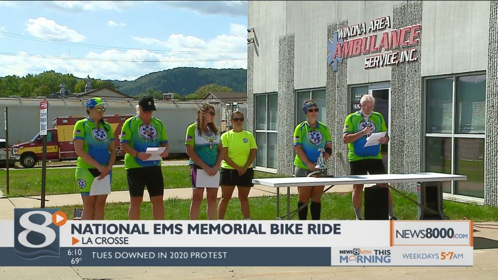 """""""you're Not Alone"""": Ems Memorial Bike Ride Makes Six Day Journey Of Solidarity"""