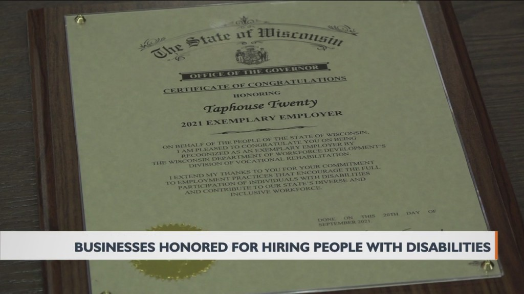 The State Of Wisconsin Is Recognizing Two Tomah Businesses For Hiring People With Disabilities