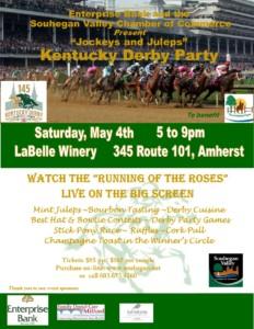 """Jockeys and Juleps"" Kentucky Derby Party @ LaBelle Winery |  |  |"