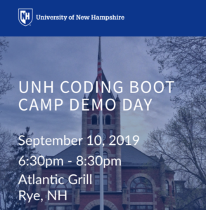 UNH Coding Boot Camp Demo Day @ Atlantic Grill | Rye | New Hampshire | United States