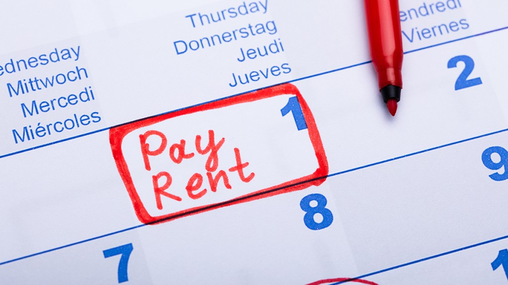 Pay Rent Note In Calendar